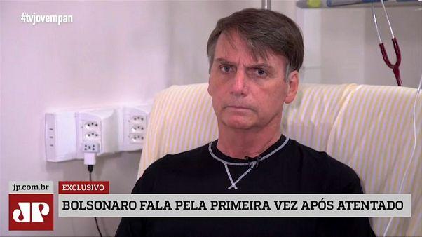 Primeira entrevista de Bolsonaro depois do ataque