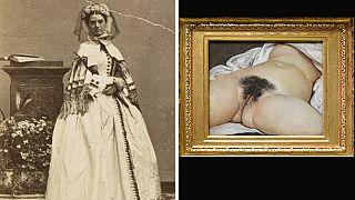 Constance Quéniaux retratada en 1860 y la obra