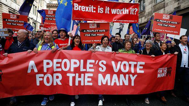 احتجاجات مناهضة لبريكست في العاصمة لندن