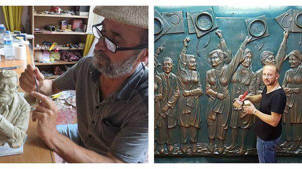 Trabzonlu heykeltıraşlar dinozor heykellerine tepkili: Lazım olsaydı biz yapardık