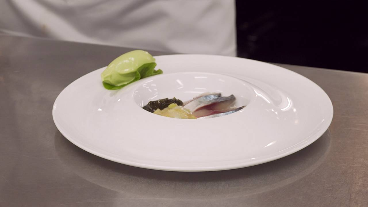 "Thierry Voisin shares his recipe for Marinated Mackerel with Wasabi sorbet with ""Taste"""
