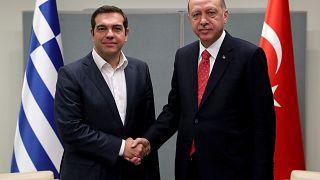 Σε θετικό κλίμα η συνάντηση Τσίπρα-Ερντογάν στη Νέα Υόρκη