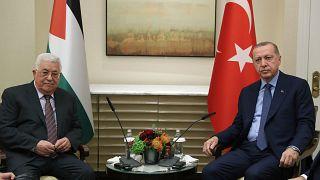 Cumhurbaşkanı Erdoğan New York'ta Abbas ve Thaçi ile görüştü
