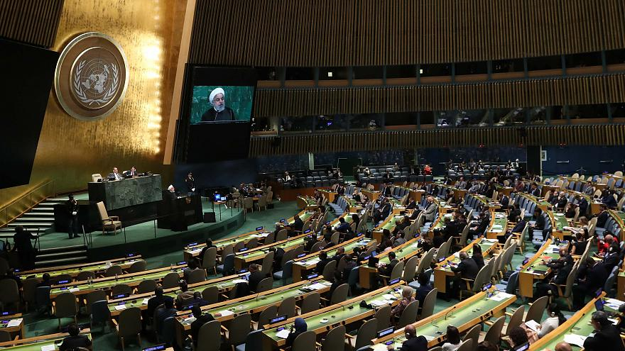 Iranian President Hassan Rouhani addresses the UN General Assembly