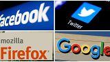 شعارات فيسبوك وتويتر وغوغل وفايرفوكس