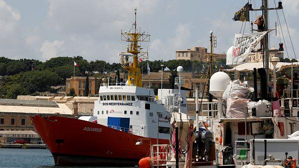 The Aquarius rescue ship