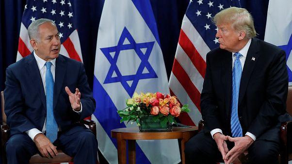 Israeli PM Benjamin Netanyahu meets with US President Donald Trump