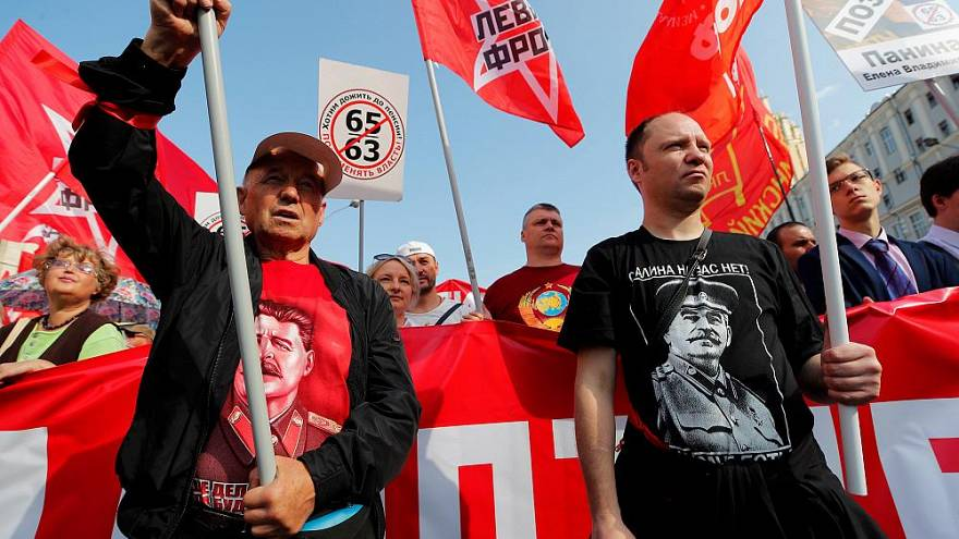 Russian protests against pension reform