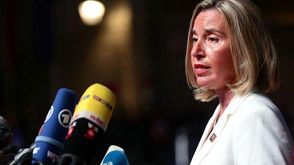 فدریکا موگرینی در اجلاس رهبران اروپا در سالزبورگ