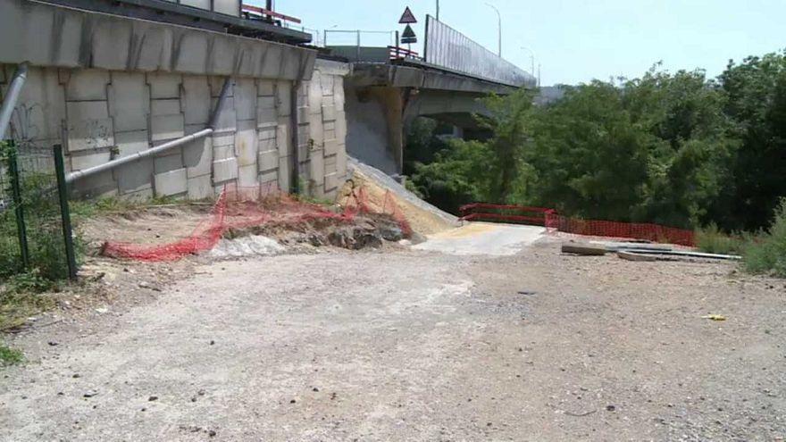 Photo prétexte bilan de l'état des ponts en France.