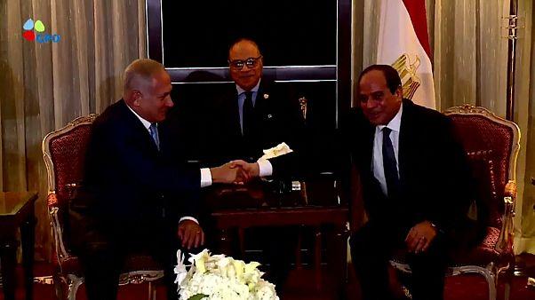 نتيناهو تباحث مع السيسي وقف إطلاق النار في غزة