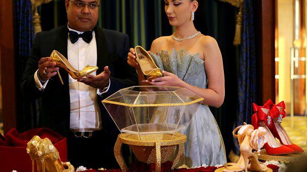 شاهد: حذاء بـ 17 مليون دولار في دبي