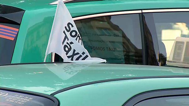 Taxistas portugueses põem fim a protesto