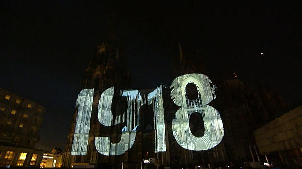 Cologne s'illumine pour lutter contre la guerre