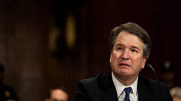 Brett Kavanaugh ABD Senatosu Adalet Komisyonu'nda savunma yaparken