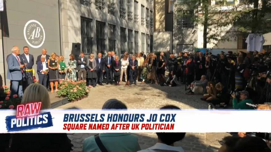 Raw Politics: Brussels honours slain British MP Jo Cox by naming a square after her