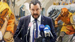 Matteo Salvini , ministre de l'intérieur italien en visite en Tunisie