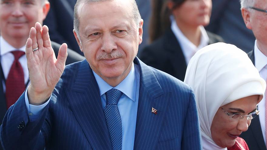 Security is stepped up in Berlin for Turkish President's arrival