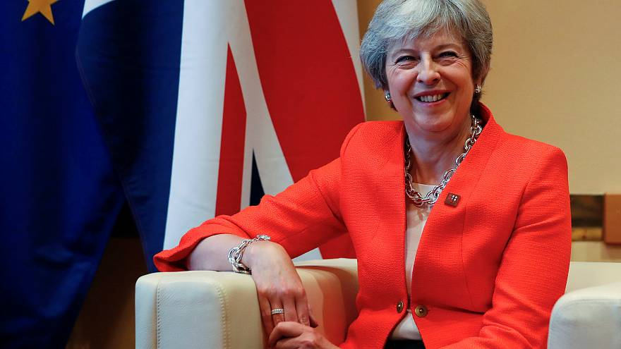 UK Prime Minister Theresa May attends a summit of EU leaders in Salzburg