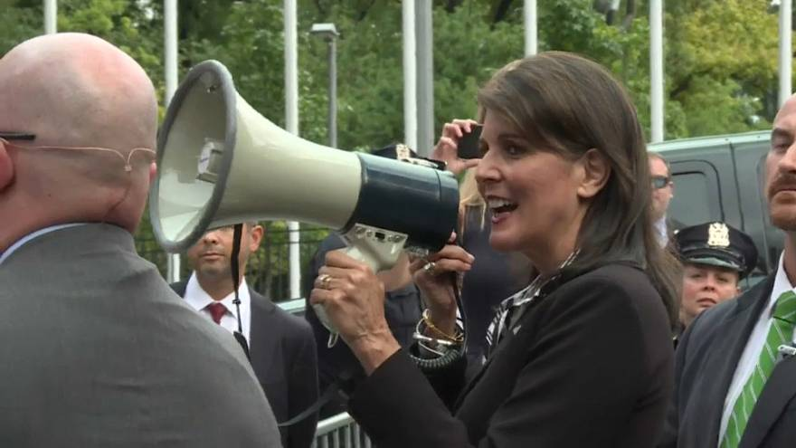 """Nikki Haley: """"Seguiremos luchando hasta que Maduro se vaya"""""""