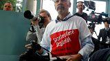 Erdoğan-Merkel basın toplantısında gerginlik: Bir gazeteci salondan çıkarıldı