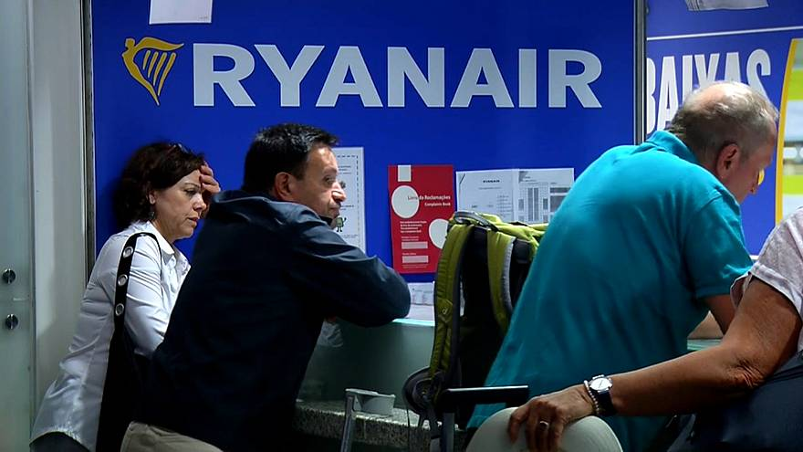 Ryanair paralisada em Portugal