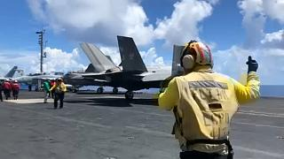 US F-35 military fighter jet crashes during training missing