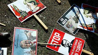 افتتاحیه مسجد اعظم کلن؛ صحنه تقابل مخالفان و موافقان اردوغان