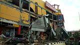 Eine zerstörte Shoppingmall