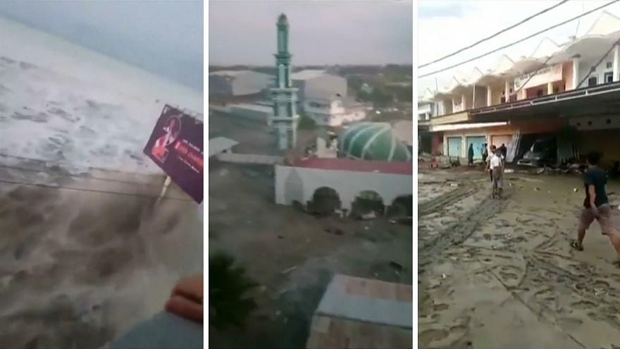Watch: Tsunami thrashes Palu in Indonesia