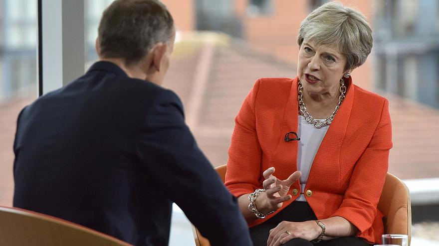 Theresa May interviewée par Andrew Marr pour la BBC
