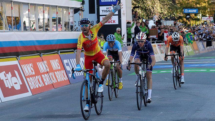Valverde, campeón del mundo de ciclismo de fondo en carretera