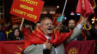 """90 بالمئة من التصويت بـ""""نعم"""" في الاستفتاء على تغيير اسم مقدونيا"""