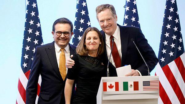 آمریکا و کانادا بر سر اصلاح نفتا به توافق رسیدند