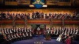 A Nobel-díjak átadási ünnepségének résztvevői Stockholmban 2008-ban
