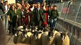 شاهد:  مقدم برامج تلفزيونية يقود قطيعا من الخراف على جسر لندن