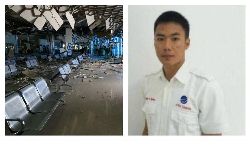 زلزله اندونزی؛ یک کارمند برج مراقبت برای کمک به پرواز آخرین هواپیما کشته شد