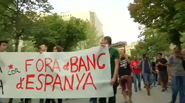Jahrestag des Referendums - Krawalle in Katalonien