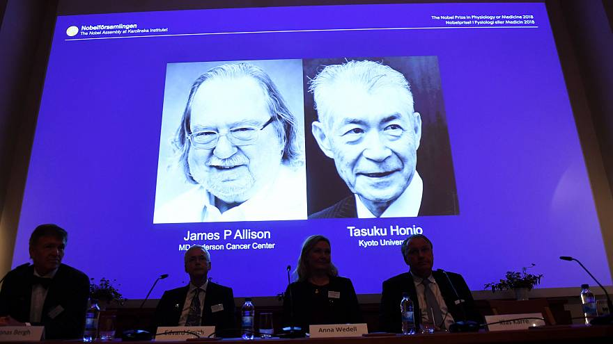 Le Nobel de médecine décerné à un duo américano-japonais pour leurs recherches sur le cancer