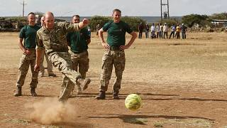 Watch: Prince William shows football skills in Kenya kickabout