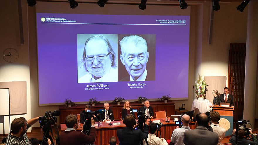فوز جيمس أليسون وتاسوكو هونجو بنوبل للطب عن أبحاثهما في مجال السرطان