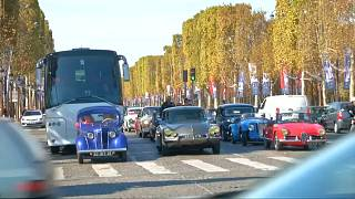 Classic cars on display in Paris to celebrate motor show's 120th anniversary