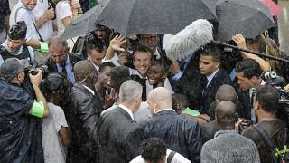Emmanuel Macron in Quartier d'Orleans, Saint Martin, September 29, 2018