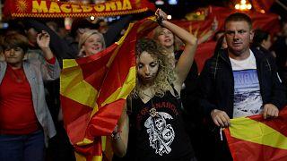 خلال الاستفتاء على تغيير اسم مقدونيا