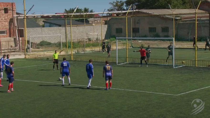 Referee scores freak goal in Dagestan soccer match
