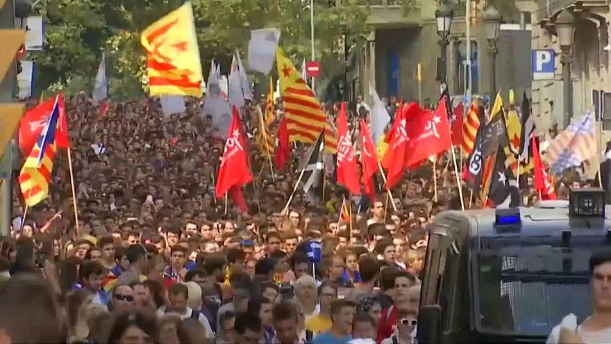 Jahrestag des Katalonien-Referendums - Proteste in Barcelona