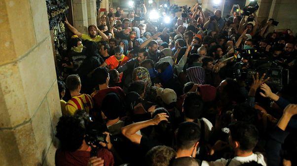 Incidentes al final de la manifestación independentista