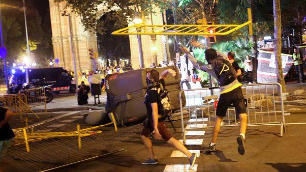Heurts à Barcelone : des indépendantistes catalans divisés