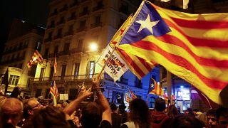 Proteste in Katalonien ein Jahr nach dem Referendum