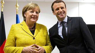 Angela Merkel és Emmanuel Macron Brüsszelben 2017. december 14-én